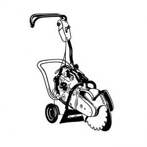 Chariot pour scie à béton