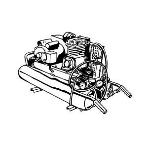 Compresseur à air sur roue