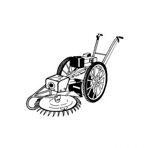 Faucheuse sur roues