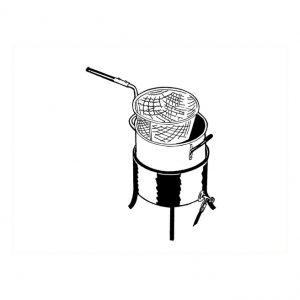 Friteuse chaudron brûleur