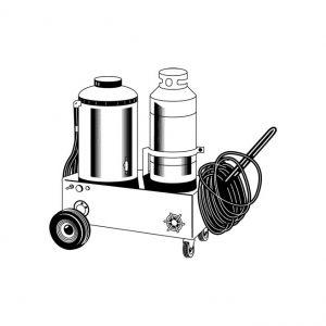 Laveuse à pression eau chaude au propane