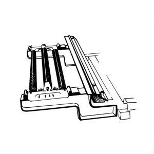 Support pour rouleau d'aluminium