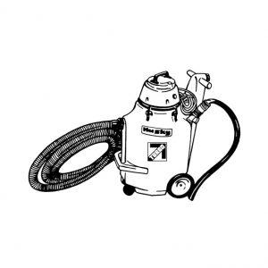 Aspirateur avec pompe à eau pour vidanger