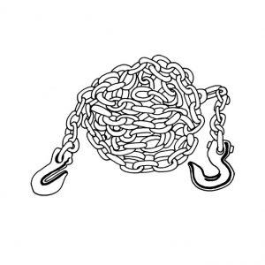 Chaîne de 25 pieds avec deux crochets