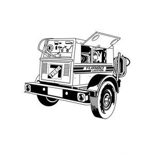 Soudeuse génératrice diesel sur roues