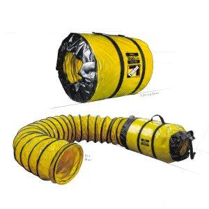 Conduit d'aération pour Ventilateur Axial Vortex 25′